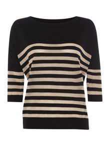 Biba Striped oversized jumper
