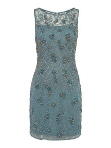 Adrianna Papell Beaded lace shift dress