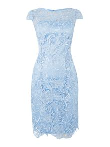 Adrianna Papell All over guipure lace dress