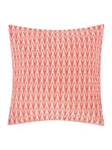 Linea Red Chevron Cushion