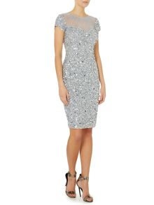 Sequin illusion dress