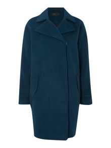 Label Lab Cocoon popper detail coat