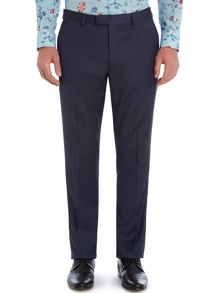New & Lingwood Plyton Birdseye Tailored Fit Suit Trouser