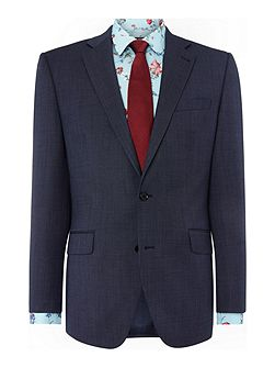 Plyton Birdseye Notch Collar Tailored Suit Jacket
