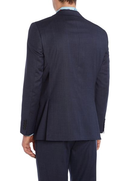 New & Lingwood Plyton Birdseye Notch Collar Tailored Suit Jacket