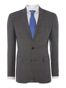 Prince Of Wale Sky Blue Check Slim Fit Suit