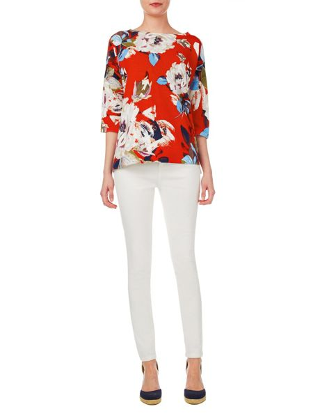 Phase Eight Dara floral print knit top