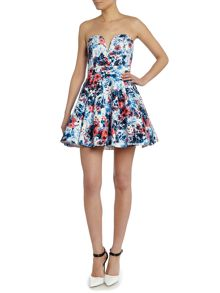 Sweet heart fit and flare dress