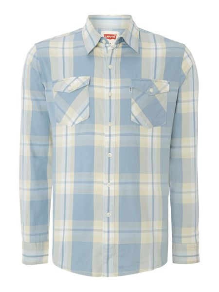 Levi's Long Sleeve Truckee Western Shirt In Check