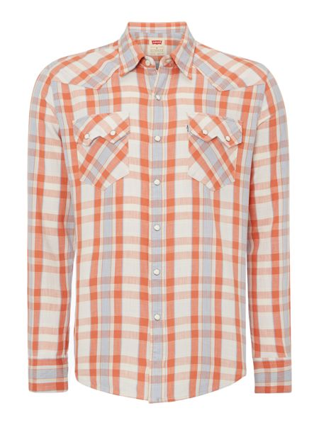 Levi's Long Sleeve Western Shirt In Check
