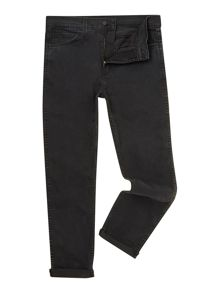 Line 8 522 Black Slim Taper Jean