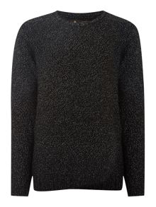 Label Lab Textured Crew Neck Jumper