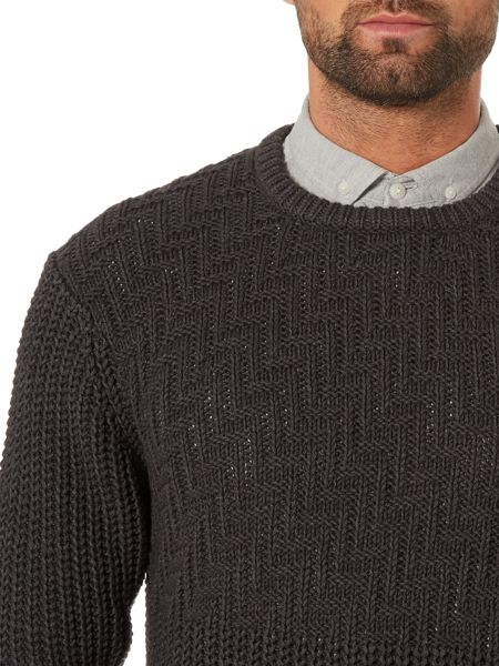 Label Lab Dauphine Textured Crew Neck Jumper