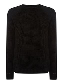 Pigalle Open Knit Crew Neck Jumper
