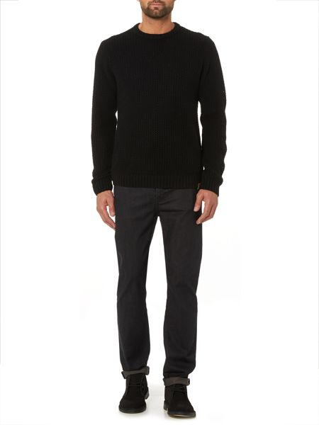 Label Lab Pigalle Open Knit Crew Neck Jumper