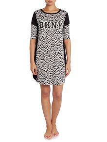 DKNY Animal Print Logo Night Shirt