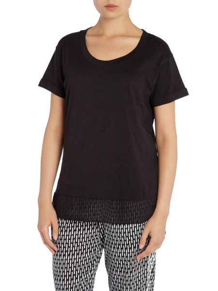 DKNY Sheer Panel Short Sleeve T-shirt