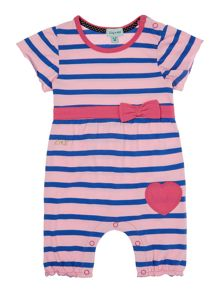 Baby girls striped romper