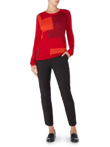 Linea Machine washable geo colourblock jumper