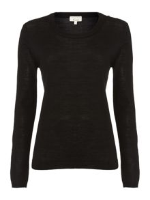 Machine washable merino LS tipped jumper