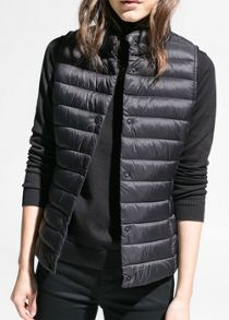 Water repellent foldable gilet