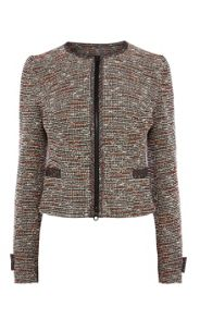 Bold Neon Tweed Tailoring Jacket