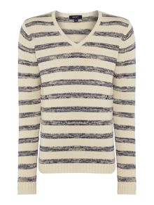 Gant Sailor Stripe V Neck Jumper