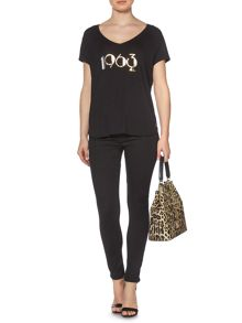 Stevie super stretch stay black skinny jean
