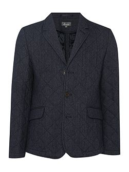 Linea Johnson Wool Quilted Blazer