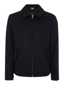 Linea Neal Borg Collar Harrington Jacket