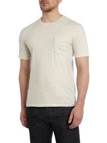 Plain Crew Neck T Shirt With Pocket