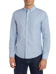 Cotton Oxford Shirt With Button Down Collar