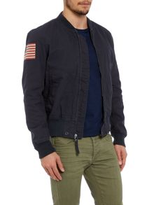 Full Zip Cotton Bomber Jacket