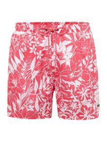 Pirahna floral print swim short