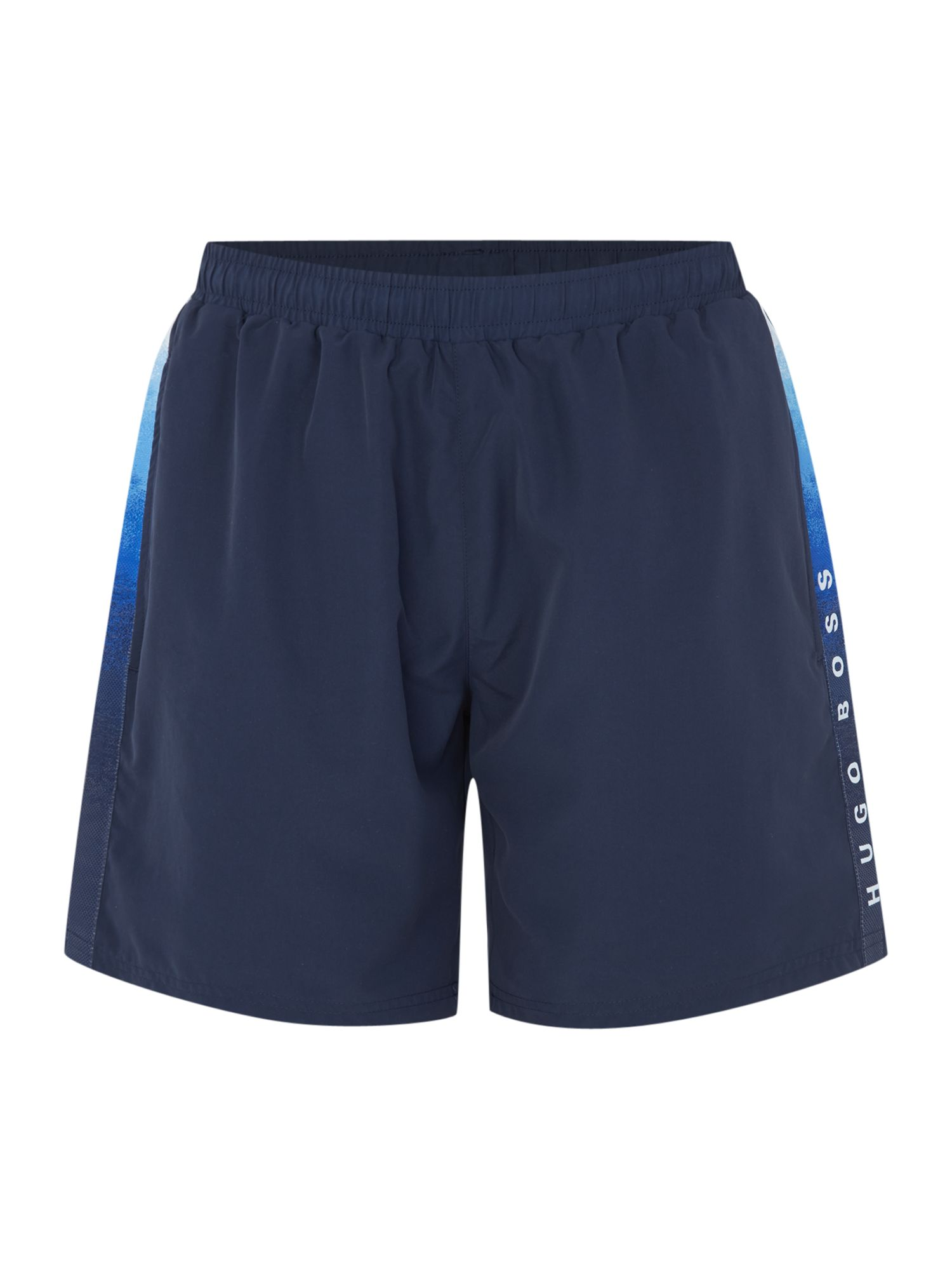 Men's Hugo Boss Seabream Logo Taping Swim Shorts, Blue