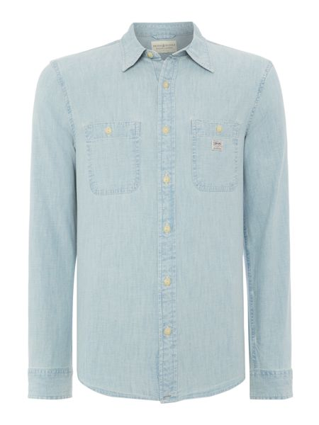 Denim and Supply Ralph Lauren Classic Fit Long Sleeve Chambray Shirt