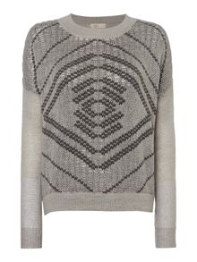 Rope patterned jumper