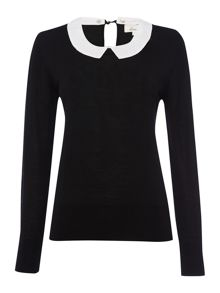 Linea Detachable collar knitted jumper