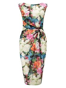 Fonteyn printed mesh dress
