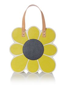 Applique flowers multi tote bag