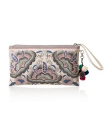 East Embroidered Clutch