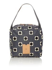 Flower spot grey large tote bag