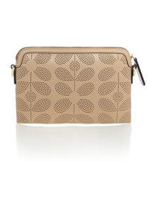 Poppy neutral cross body bag