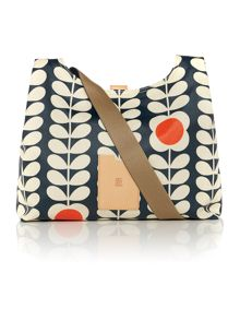 Stem quilted navy cross body bag