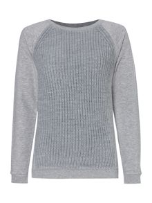 Nordic knit mix sweat