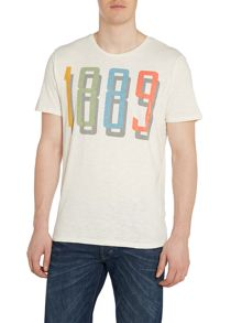 Lee Crew Neck Regular Fit T Shirt In 1889 Print