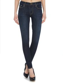 Halle high rise skinny jean in picasso blue
