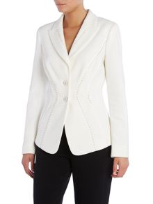 Berihan fitted jacket with line detail