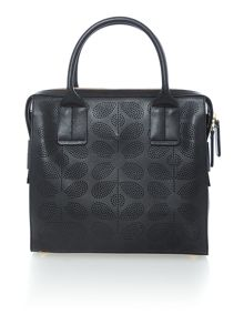 Orla Kiely Margot black tote bag