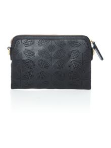 Orla Kiely Poppy black crossbody bag